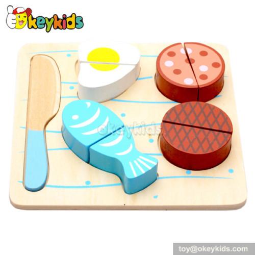 Pretend toy children wooden play food set W10B091-C