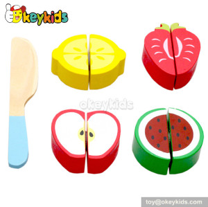 Educational baby toy wooden play food set W10B091-E