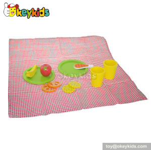 Educational baby toy wooden play kitchen food W10B086