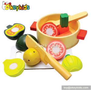 Top fashion wooden kids play food set W10B082