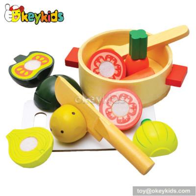 Top fashion wooden kids play food set W10B082