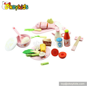 High quality children toy wooden food play set W10B019