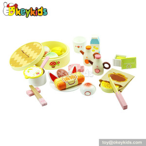 High quality children toy wooden breakfast food play set W10B021
