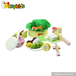 High quality children toy wooden play kitchen food W10B020