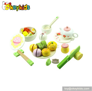 High quality wooden toy children play food W10B022