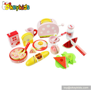 Top fashion kitchen toy wooden educational toy food W10B024
