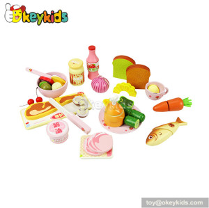 Top fashion kitchen toy kids wooden food toy W10B025
