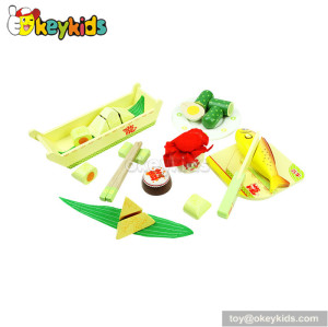 Dragon Boat Festival wooden pretend play food W10B026