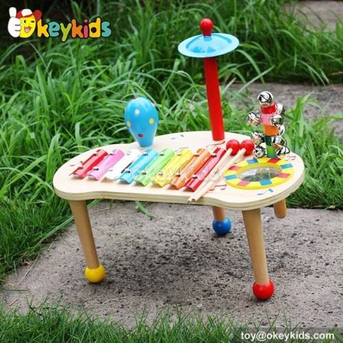 Okeykids Musical Instrument Toy Set ,kid Wooden music table for children W07A102