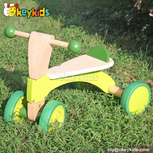 Top fashion children balance wooden 4 wheel bike W16A013