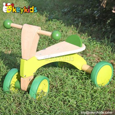 Top fashion children balance wooden 4 wheel bike W16A013