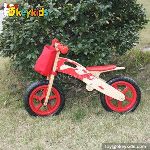 Most popular red children balance wooden walking bike W16C141