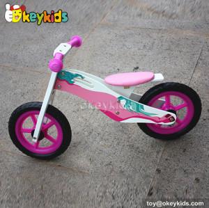 Lovely pink  balance wooden children bike W16C142