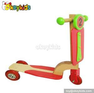 wholesale cheap balance wooden kids scooter for sale W16B002
