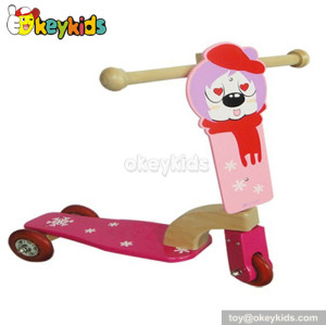 wholesale cheap balance wooden children scooter for sale W16B003