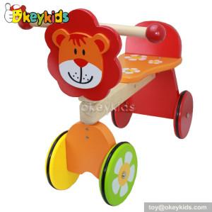 Best design children cartoon toy wooden four wheel bike for sale W16A014
