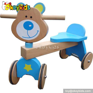 Top fashion 4 wheel wooden ride on cars for kids W16A011