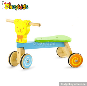 Top fashion 4 wheel cartoon wooden ride on toys for kids W16A012