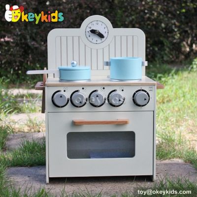 Okeykids Pretend play cooking wooden kitchen toy let kids get role play's fun W10C213