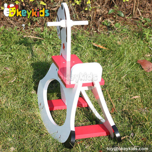Comfortable baby wooden rocking horse toy for sale W16A012