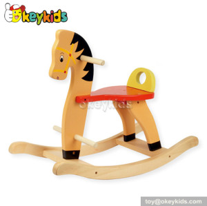 Comfortable wooden kids rocking horse for sale W16D036