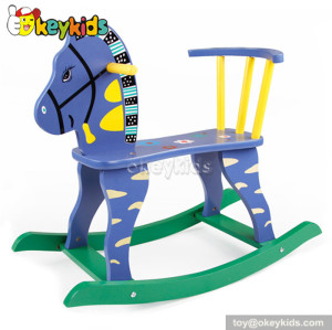 Comfortable wooden baby rocking horse for sale W16D039