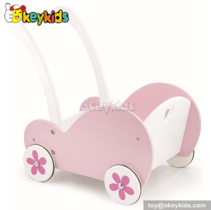 Best design pink wooden walker for baby W16E029