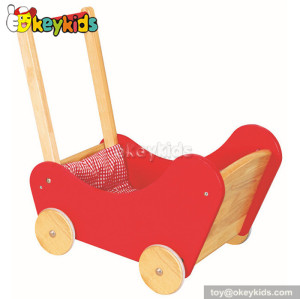 Best design red wooden walker for baby W16E030