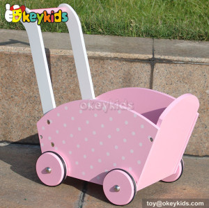 Newest design wooden pink baby walker for sale W16E049