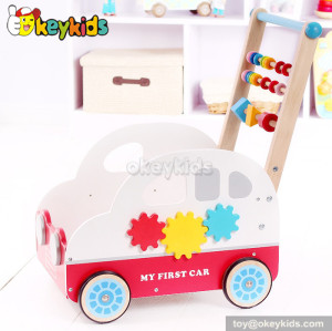 Fashion car shapes wooden baby walker toy for sale W16E037