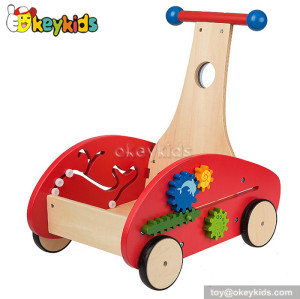 Fashionable wooden car baby walker for sale W16E035