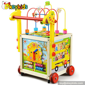 wholesale multi-function wooden cheap baby walkers for sale W16E055