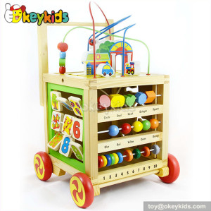 wholesale multi-function baby wooden activity walker for sale W16E054