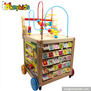 wholesale multi-function wooden baby activity walker for sale W16E051