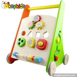 Stand learning walker wood toys for kids W16E047