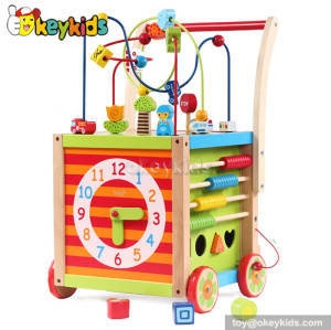 Best design wooden baby toy walker for sale W16E038