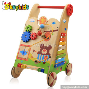 Best design baby wooden toy walker for sale W16E034