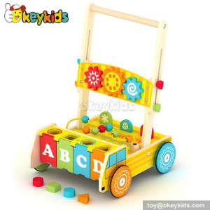 Lastest products baby wooden walker W16E031