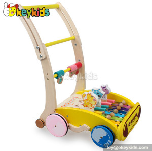 Lastest products baby wooden push along walker for sale W16E022
