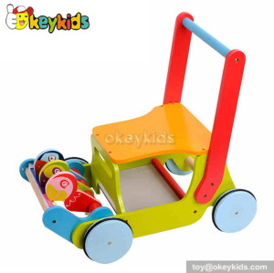 Lastest products wooden baby push along walker W16E021