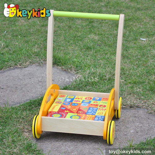 Lastest products wooden baby push walker for sale W16E017