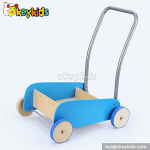 Wholesale cheap wooden baby walker with blocks W16E028C