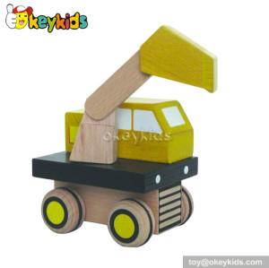 Handmade wooden monster truck toys for kids W04A092
