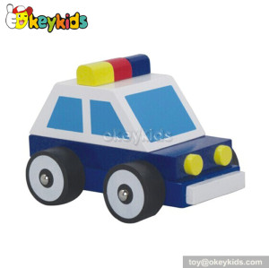 Top fashion kids wooden police car toy W04A099