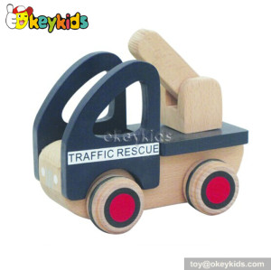 Top fashion kids wooden rescue car toys for sale W04A100
