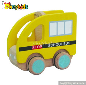 Top fashion kids wooden school bus toy for sale W04A102