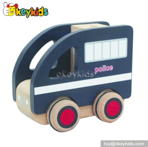 Top fashion children wooden toy police cars for sale W04A119