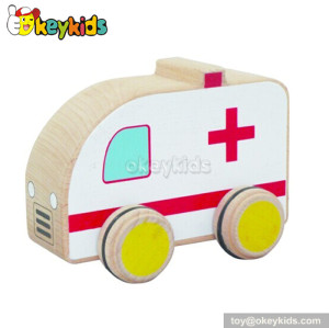 Top fashion kids wooden toy ambulance for sale W04A108