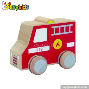 Top fashion kids wooden toy fire trucks for kids W04A109