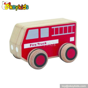 Top fashion wooden toy kids fire truck for sale W04A115